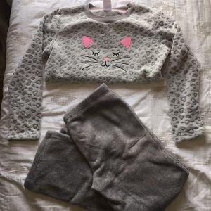 Really soft pajamas with cat